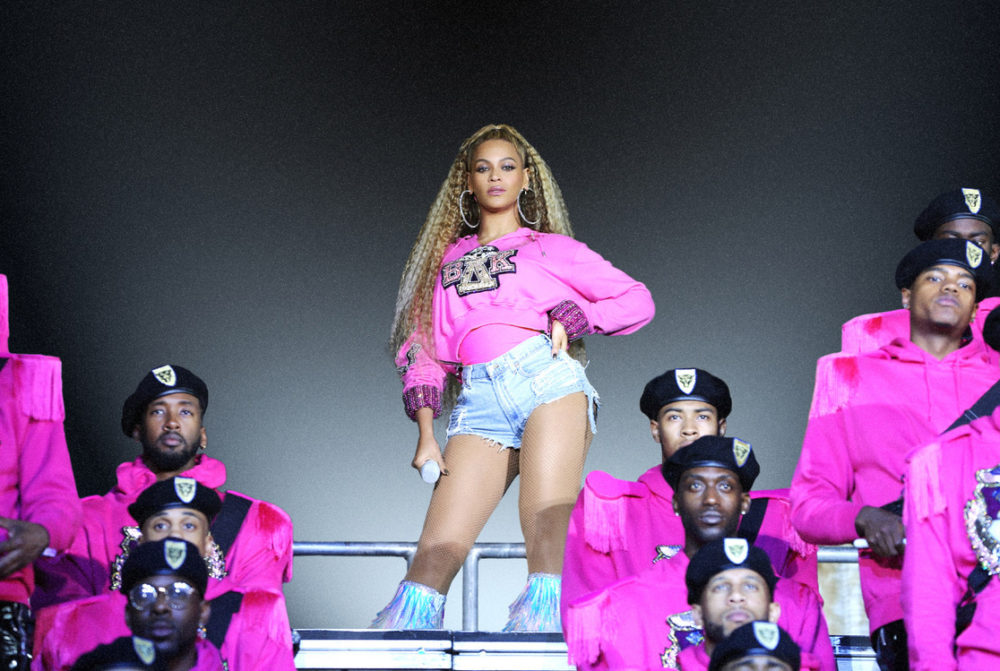 "This image released by Netflix shows Beyonce in a scene from her documentary ""Homecoming: A Film by Beyoncé."" (Parkwood Entertainment/Netflix via AP)"