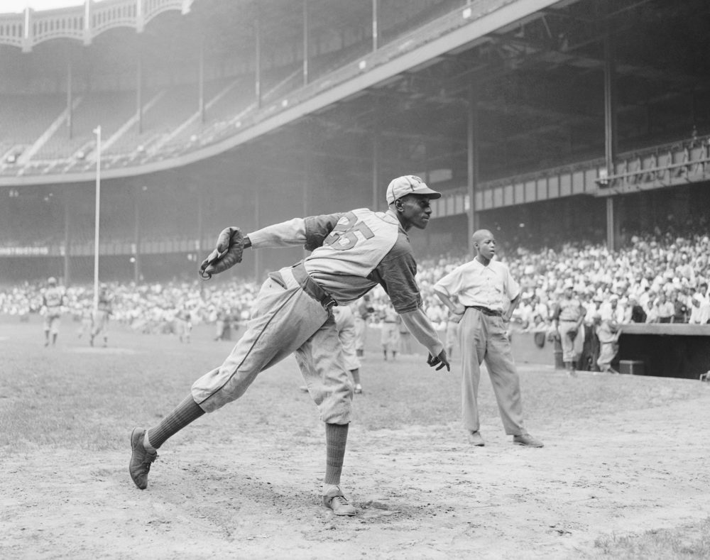 Satchel Paige in 1942. (Matty Zimmerman/AP)