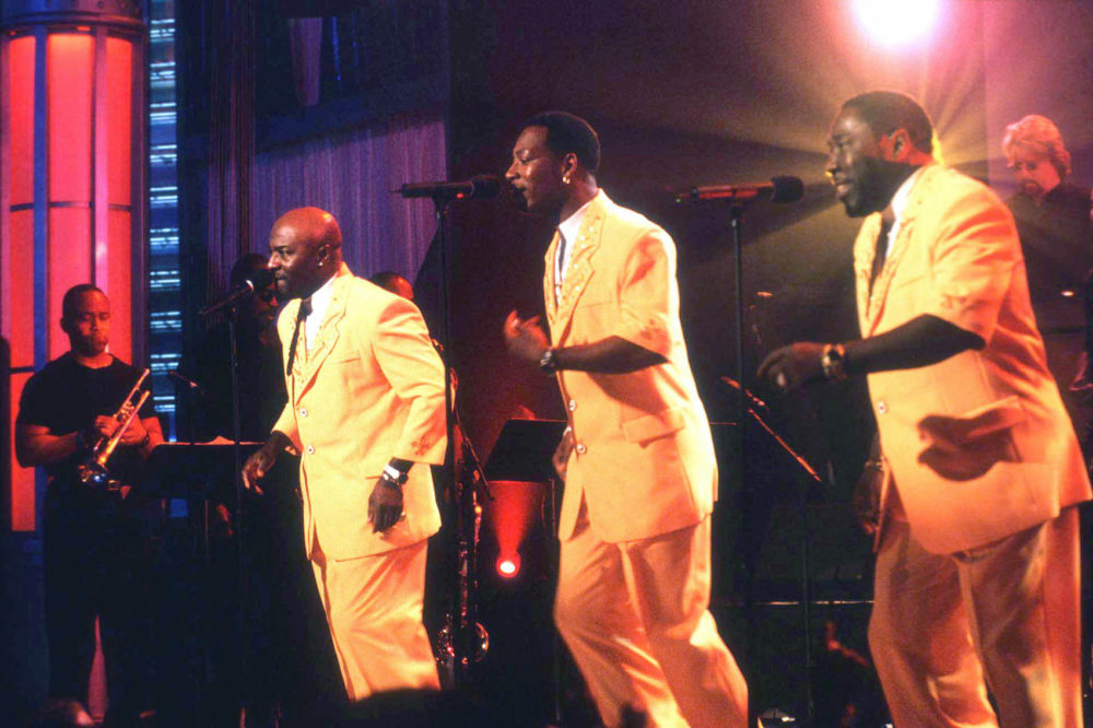 "The O'Jays perform during a taping of ""Motown Live"" in this Sept. 9, 1998 photo, location unknown. (Sean Murphy/AP)"