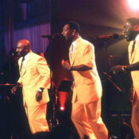 """The O'Jays perform during a taping of """"Motown Live"""" in this Sept. 9, 1998 photo, location unknown. (Sean Murphy/AP)"""