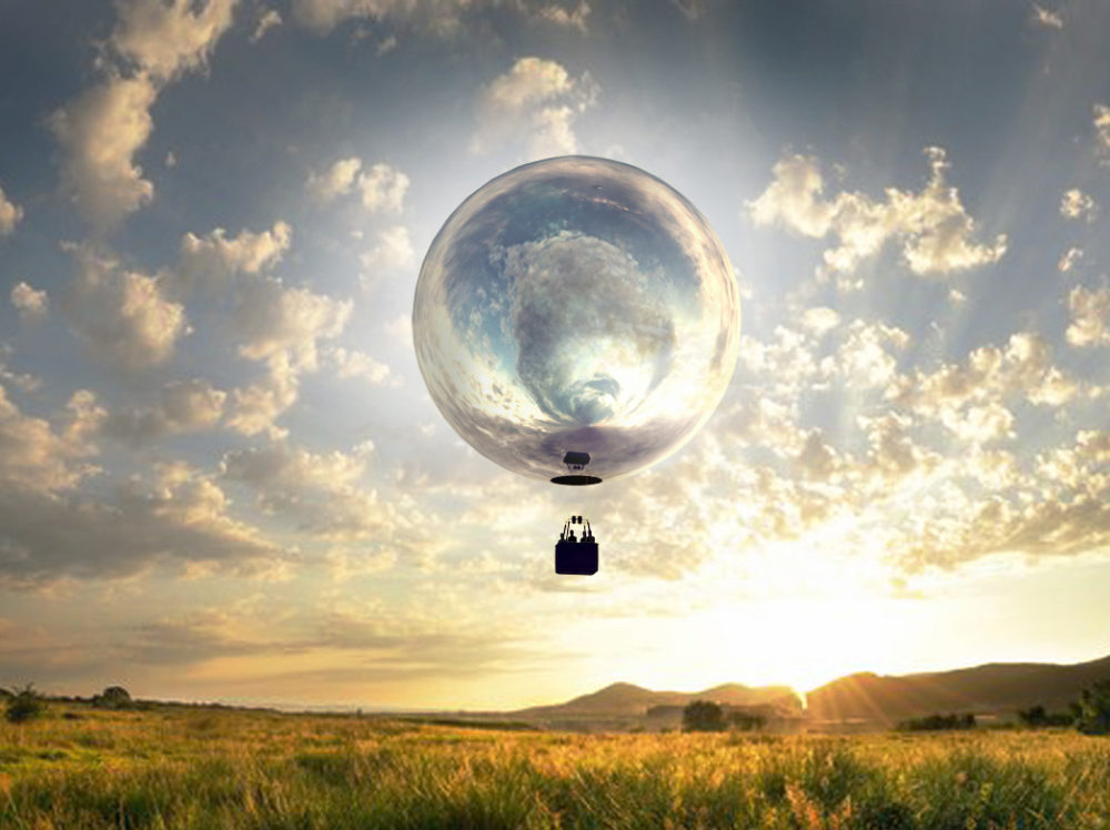 A rendering of Doug Aitken's mirrored balloon. (Courtesy of the artist)