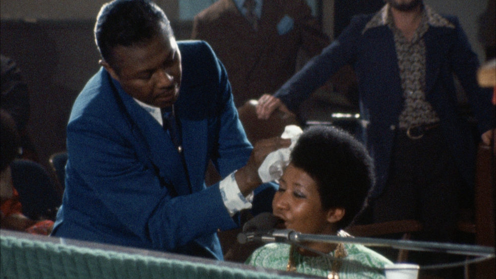 """A still from the documentary """"Amazing Grace,"""" filmed over two days in 1972 as Aretha Franklin recorded her live gospel album of the same name at the New Temple Missionary Baptist Church in California. (Courtesy Neon)"""