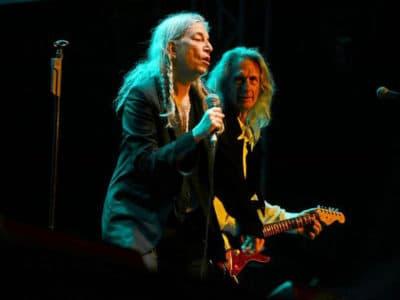 Patti Smith and Lenny Kaye on stage. (Courtesy)