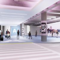A rendering of a proposed new ride hailing area in Logan's Central Garage (Courtesy of Massport)