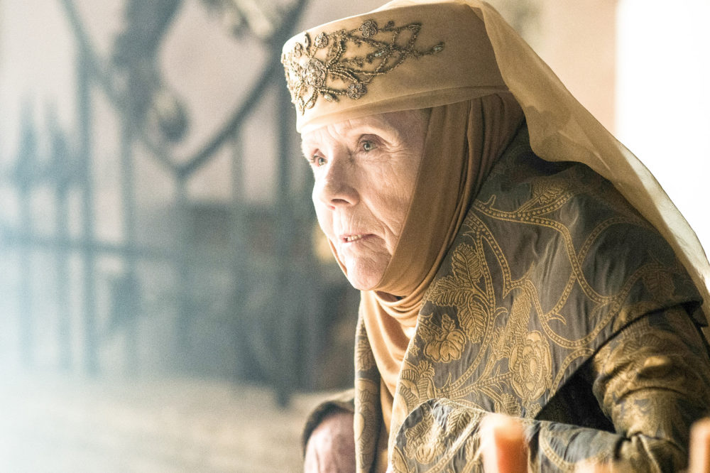 """Diana Rigg. From """"The Avengers"""" and the Royal Shakespeare Company to """"Game of Thrones."""" (Courtesy Helen Sloan/HBO)"""