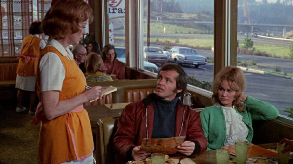 """Jack Nicholson and Karen Black in """"Five Easy Pieces."""" (Courtesy)"""
