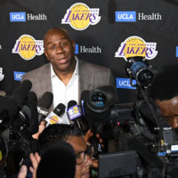 Magic Johnson's Lakers recorded their sixth-straight losing season in 2018–19. (Harry How/Getty Images)
