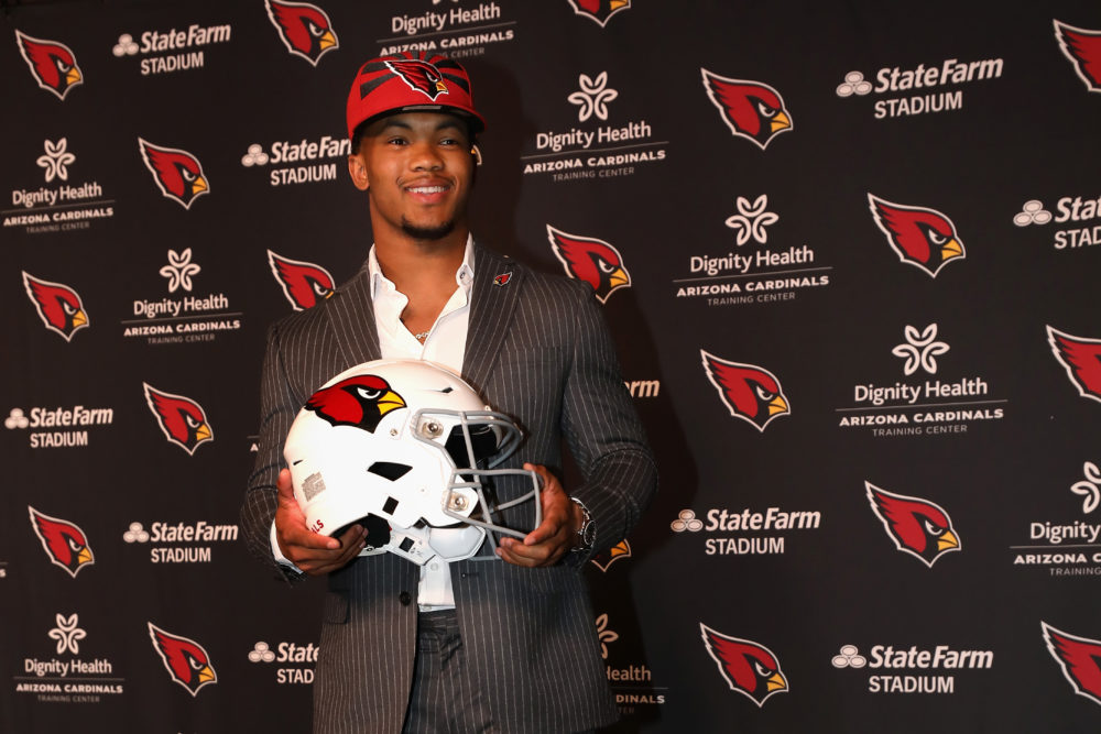 Kyler Murray was taken with the No. 1 overall pick in the NFL Draft on Thursday night. (Christian Petersen/Getty Images)