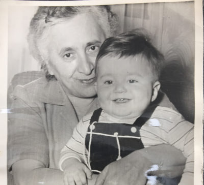 "The author and his grandmother, Hovsepian ""Rose"" Banaian, circa 1950. (Courtesy)"
