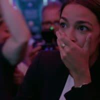 "Alexandria Ocasio-Cortez in ""Knock Down The House"" (Courtesy Netflix)"
