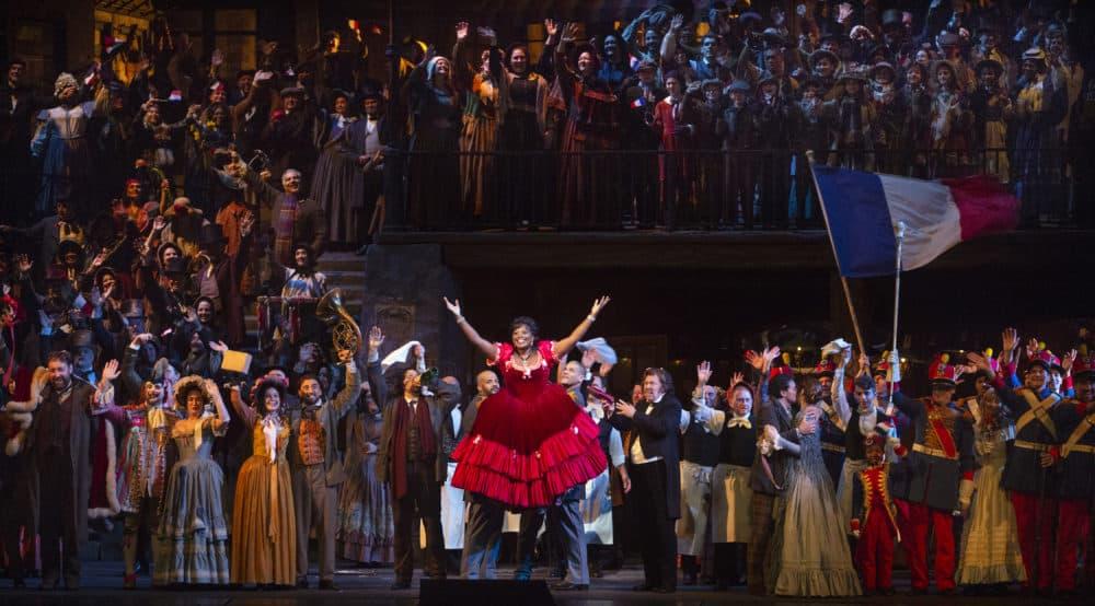 Angel Blue and the cast of La Bohème. (Marty Sohl/Metropolitan Opera)