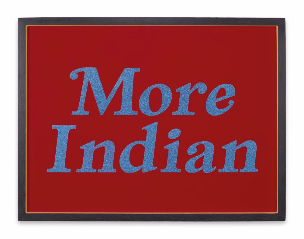 "George Longfish, ""More Indian,"" 2013. (Courtesy)"