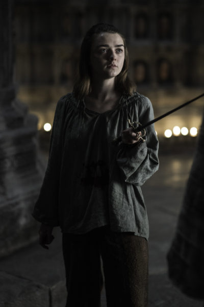 Maisie Williams as Arya Stark. (Courtesy Helen Sloan/HBO)