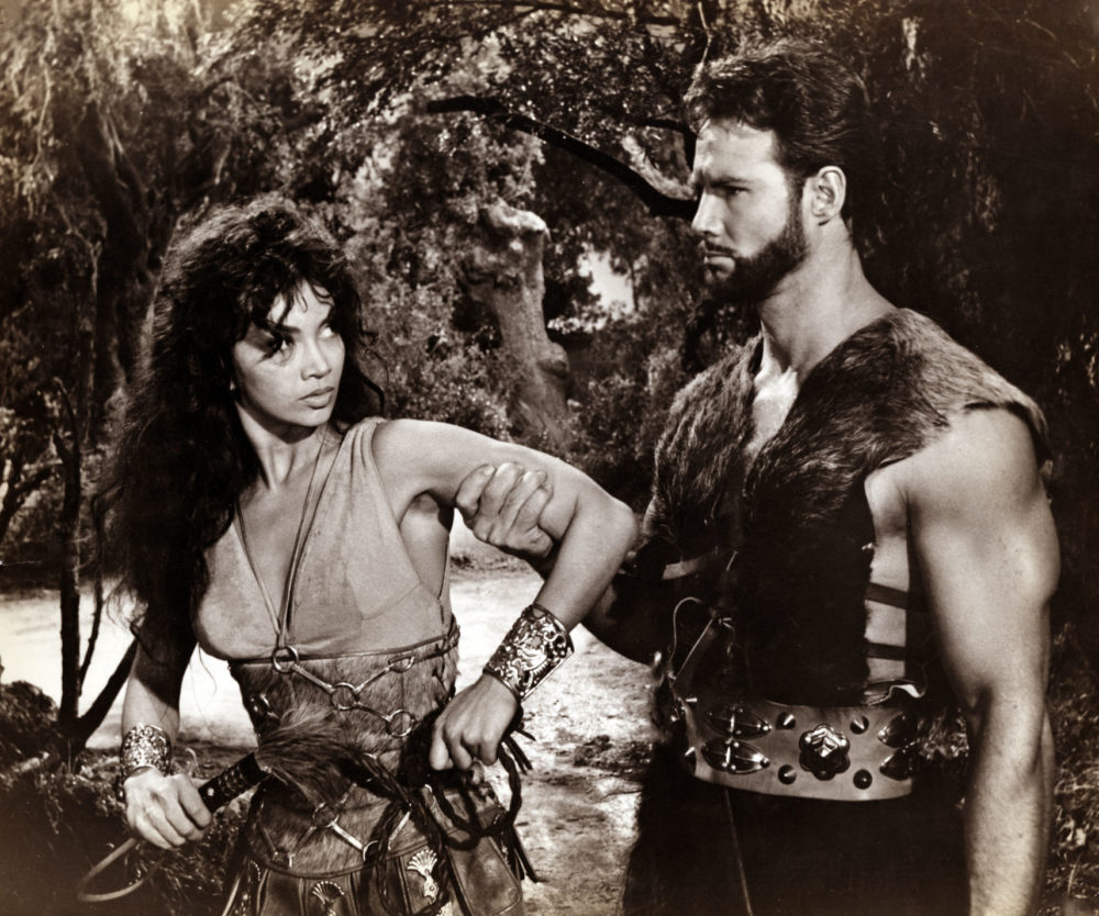 """Chelo Alonso and Steve Reeves in """"Morgan the Pirate."""" (Wikipedia/Flickr)"""