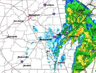 A weather map of Alabama. (National Weather Service)