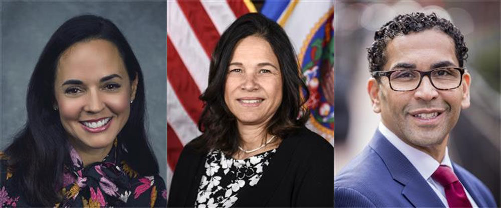 From left: Marie Izquierdo, Brenda Cassellius and Oscar Santos. (Courtesy of Boston Public Schools)