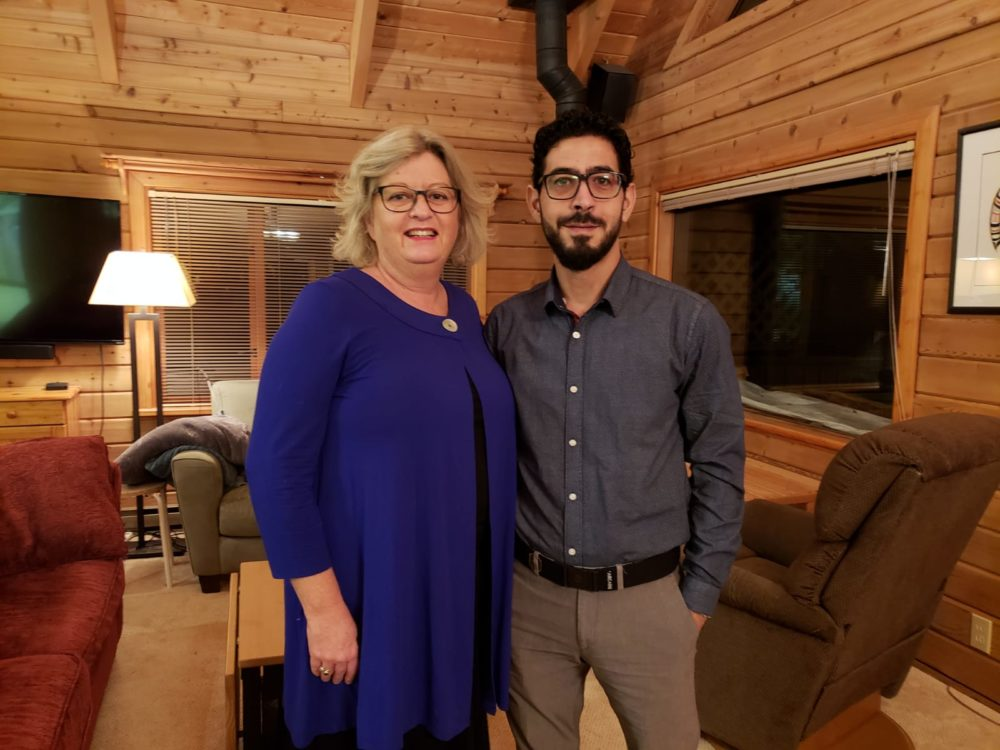 Laurie Cooper and Hassan al Kontar (Courtesy Laurie Cooper)