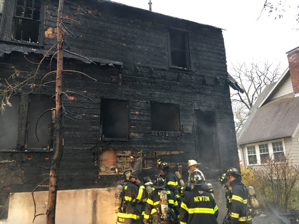 A 63-year-old man died in an early-morning house fire in Newton on Saturday, April 27, 2019. (Courtesy the Newton Fire Department via Twitter)