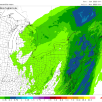 Most areas will see about half an inch of precipitation Monday morning.  (NOAA)