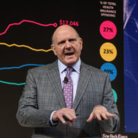 Former Microsoft CEO Steve Ballmer has founded an organization called USAFacts to put U.S. government statistics all together in one place. (Stephanie Keith/Getty Images)
