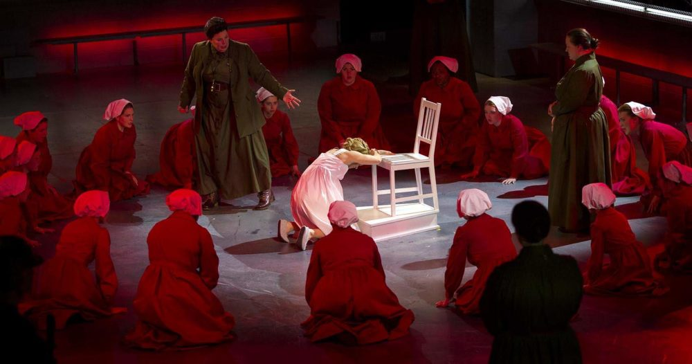 The Handmaid S Tale And A Sea Of Blood Red Dresses