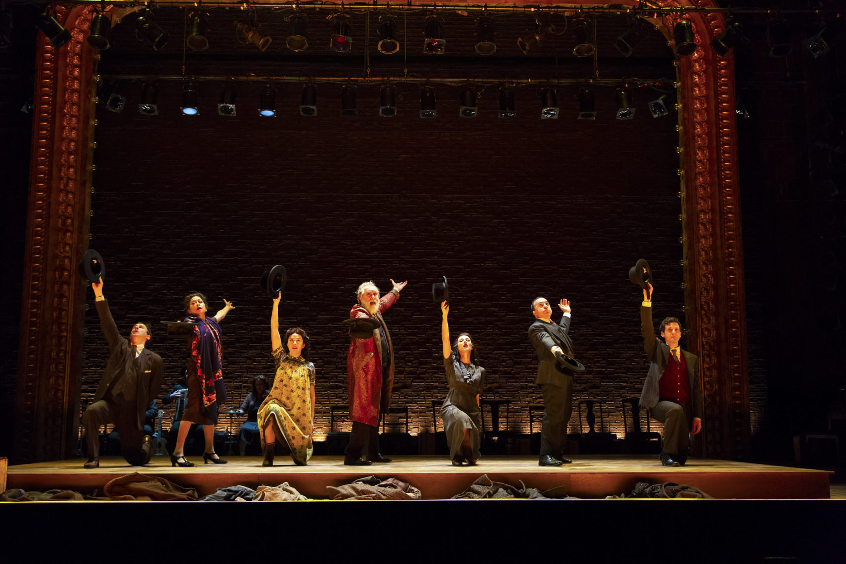 "The cast of Huntington Theatre Company's production of ""Indecent."" (Courtesy T. Charles Erickson)"