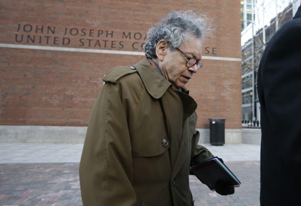 Insys Therapeutics founder John Kapoor departs federal court in Boston on Jan. 30. (Steven Senne/AP)