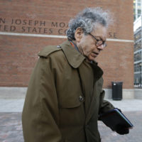 Insys Therapeutics founder John Kapoor departs federal court in Boston on Jan. 30. (Steven Senne/AP)