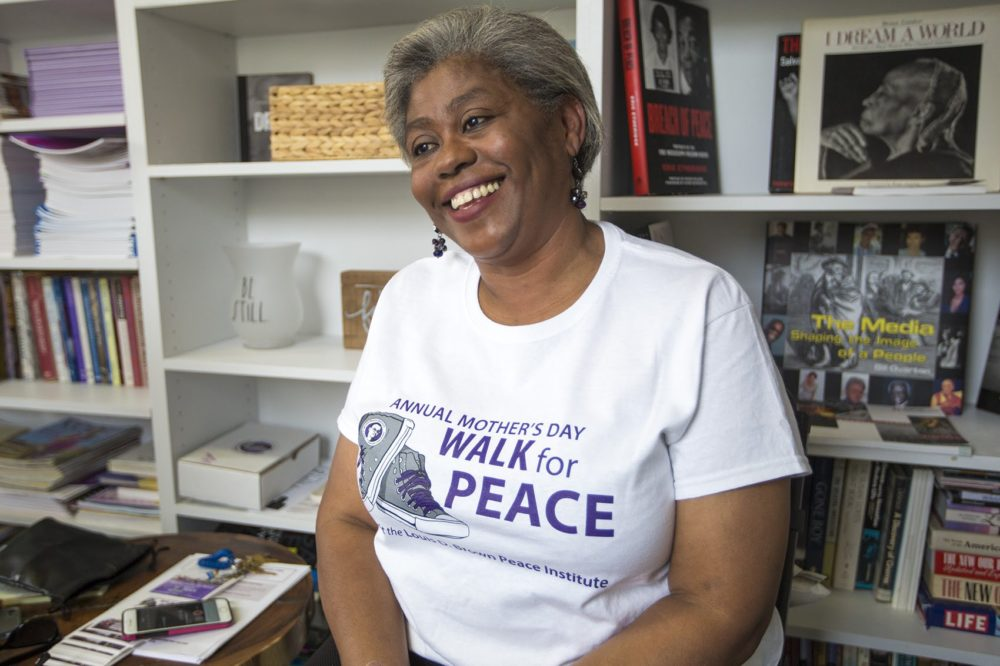 The Louis D. Brown Peace Institute founder Tina Chéry in 2018. (Jesse Costa/WBUR)