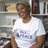 The Louis D. Brown Peace Institute founder Tina Chéry in 2018. (Jesse Costa/WBUR)