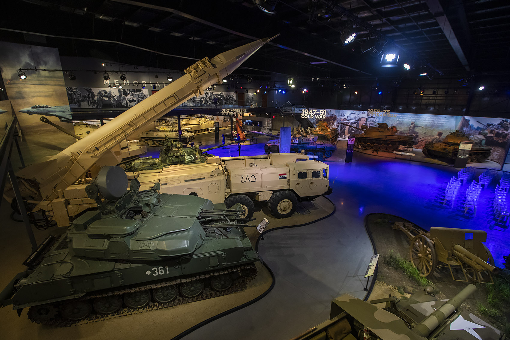 The American Heritage Museum in Stow, which opens to the public Friday, features tanks, armored vehicles and military artifacts. (Jesse Costa/WBUR)