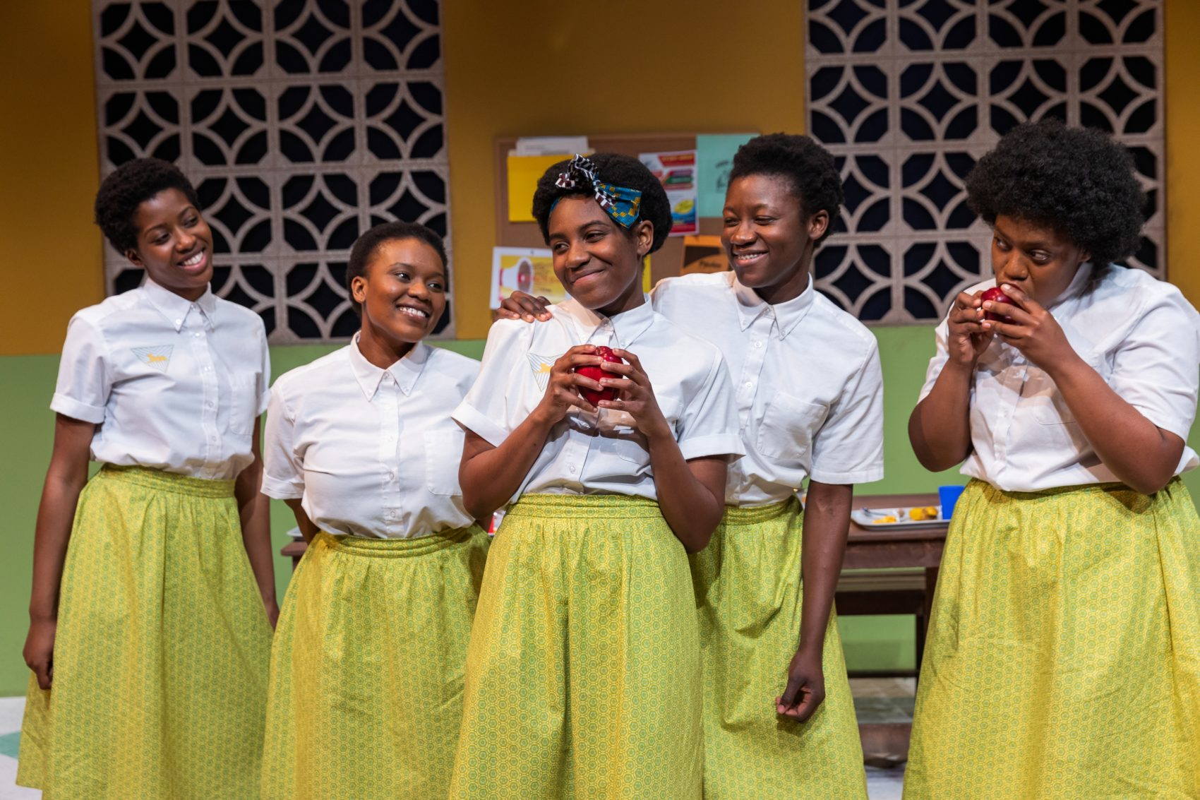 "The cast of ""School Girls; or, the African Mean Girls Play."" (Courtesy Maggie Hall Photography)"
