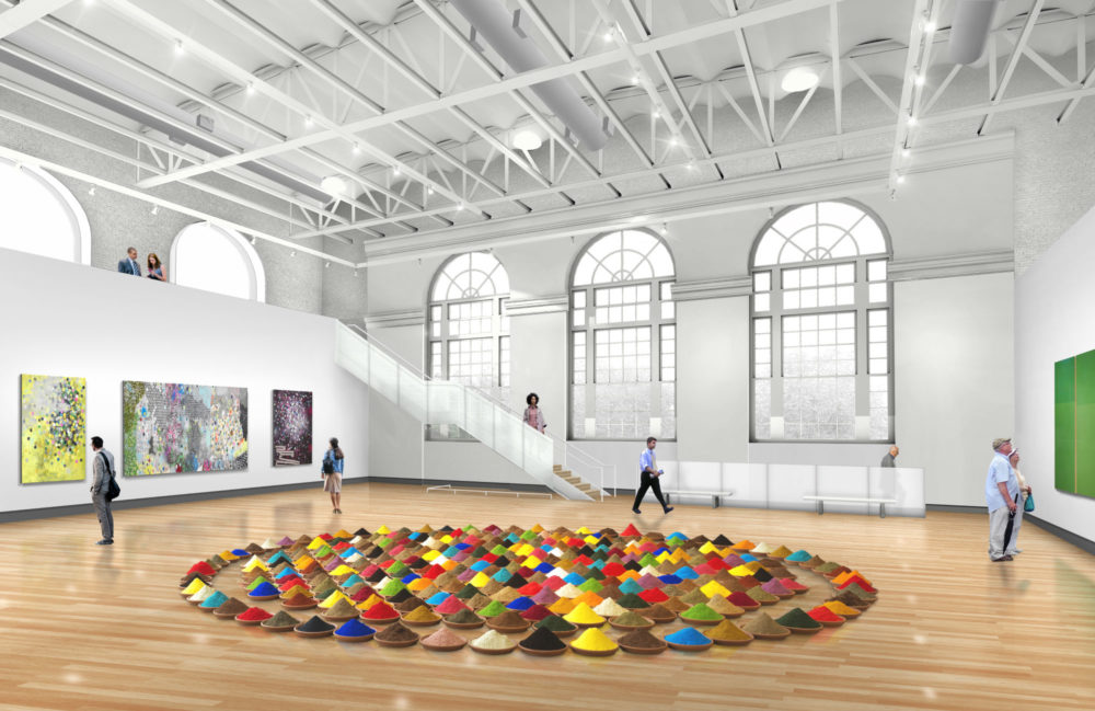 A rendering of the renovated MassArt Art Museum. (Courtesy designLAB and MassArt)