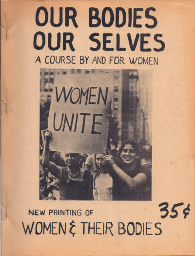 """An early edition of """"Our Bodies, Ourselves,"""" printed in 1971. (Courtesy Our Bodies Ourselves)"""
