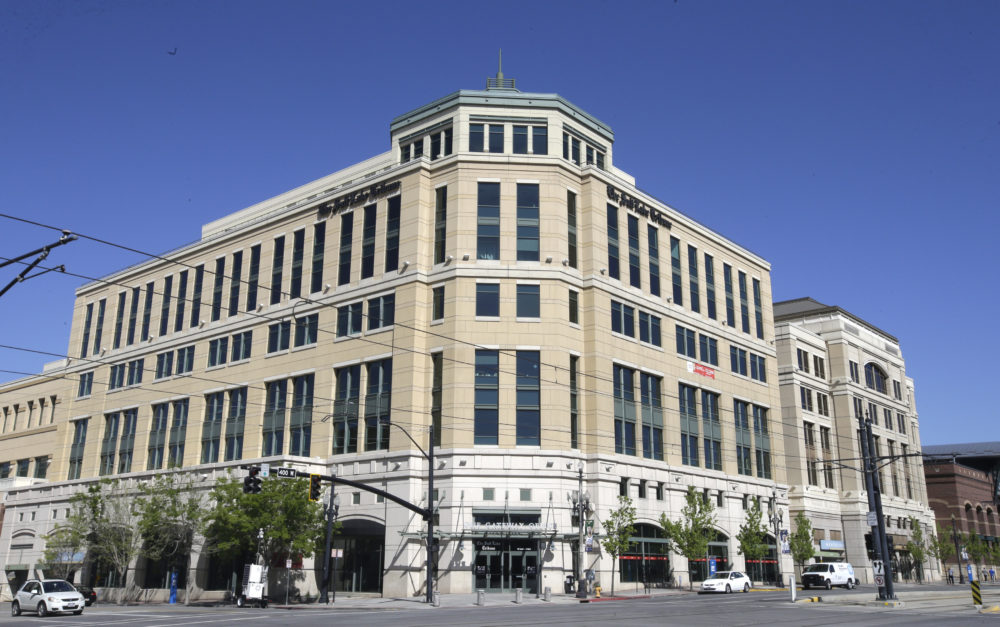 The Salt Lake Tribune building in Salt Lake City. The paper has announced plans to become a nonprofit as it moves toward a nontraditional model that it hopes will ensure long-term stability after years of financial struggles. (Rick Bowmer/AP)