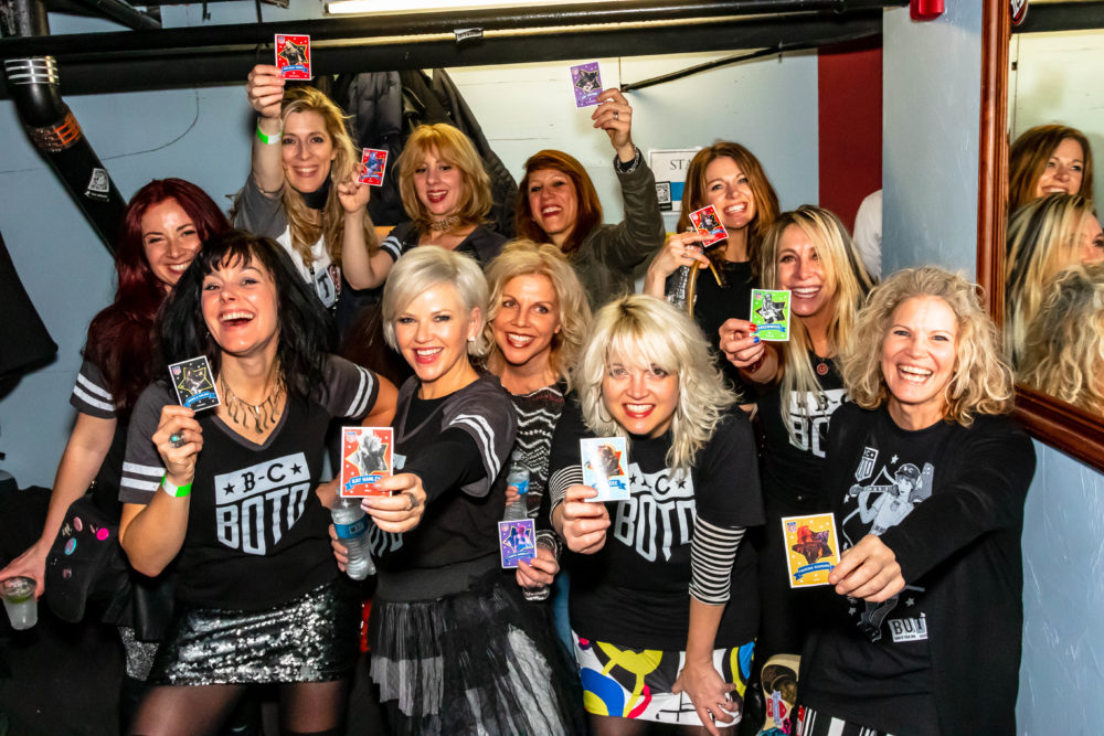 The BOTO crew: In the front row, Michelle Paulhus, Kay Hanley, Tanya Donelly, Jennifer D'Angora, Tamora Gooding. In the back row, Magen Tracy, Melissa Gibbs, Hilken Mancini, Jen Trynin, Kate Tucker, Gail Greenwood. (Courtesy Joshua Pickering)