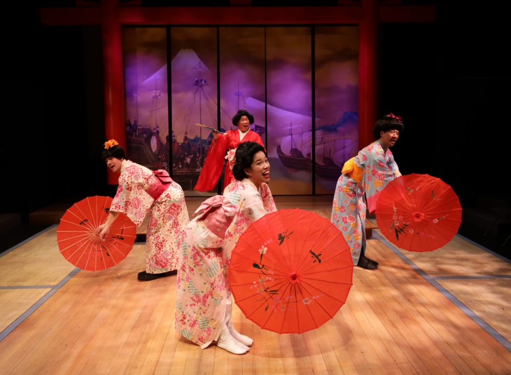 """Alexander Holden, Karina Wen, Kai Chao and Gary Ng in """"Pacific Overtures."""" (Courtesy Mark S. Howard)"""