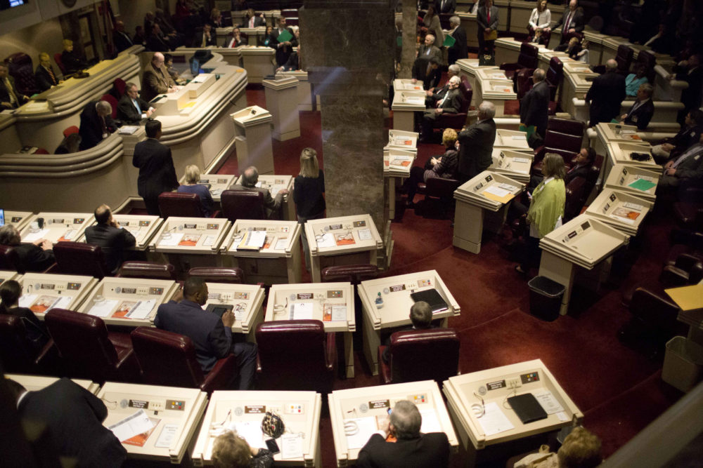 In this 2015 file photo, Alabama representatives prepare for the opening session in the house of representatives chambers at the State House in Montgomery, Ala. (Brynn Anderson/AP)