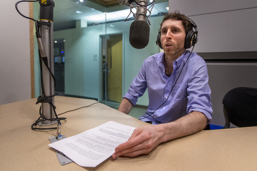 Will Dowd in a studio at WBUR. (Jesse Costa/WBUR)