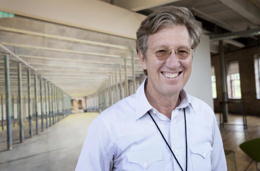 MASS MoCA director Joseph Thompson in the museum's Building 6. (Robin Lubbock/WBUR)