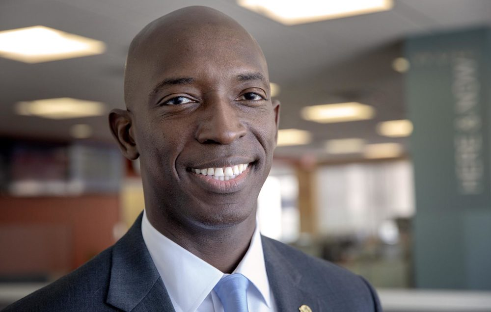 Miramar Mayor Wayne Messam at WBUR. (Robin Lubbock/WBUR)