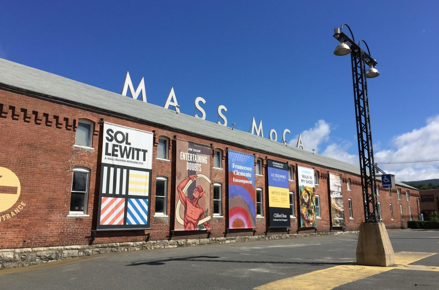 MASS MoCA opened 20 years ago in the Western Mass. city of North Adams. (Beth J. Harpaz/AP)