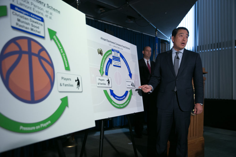 News of the college basketball bribery scandal broke in September 2017. (Kevin Hagen/Getty Images)