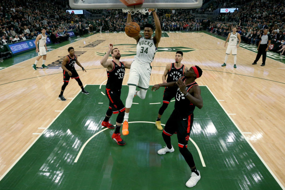 This year, Giannis Antetokounmpo and the Milwaukee Bucks have had a new beat writer around. (Jonathan Daniel/Getty Images)
