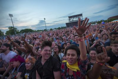 The crowd at Boston Calling last year. (Jesse Costa/WBUR)