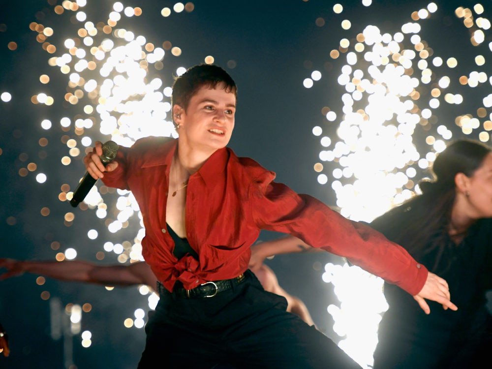Christine and the Queens performs during the 2019 Coachella Valley Music And Arts Festival in Indio, Calif. (Frazer Harrison/Getty Images for Coachella)