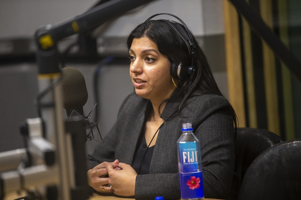 Massachusetts Cannabis Control Commissioner Shaleen Title. (Jesse Costa/WBUR)