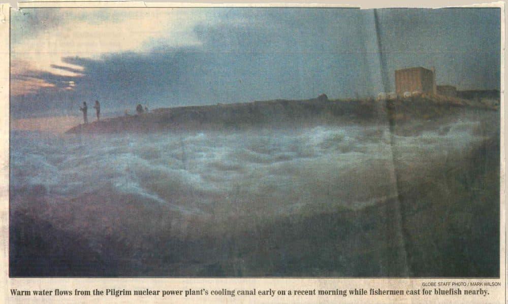 A 1986 front-page Boston Globe image (Robin Lubbock/WBUR)