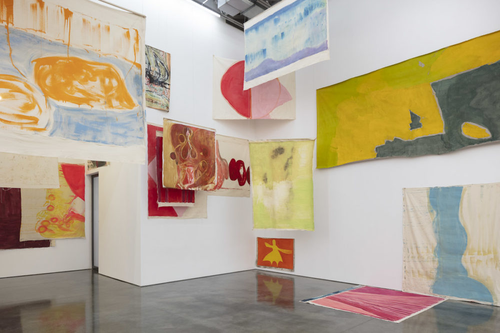 An installation view of Vivian Suter's work. (Courtesy ICA)