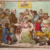 An 1802 cartoon that captures reaction to Edward Jenner's new smallpox vaccine